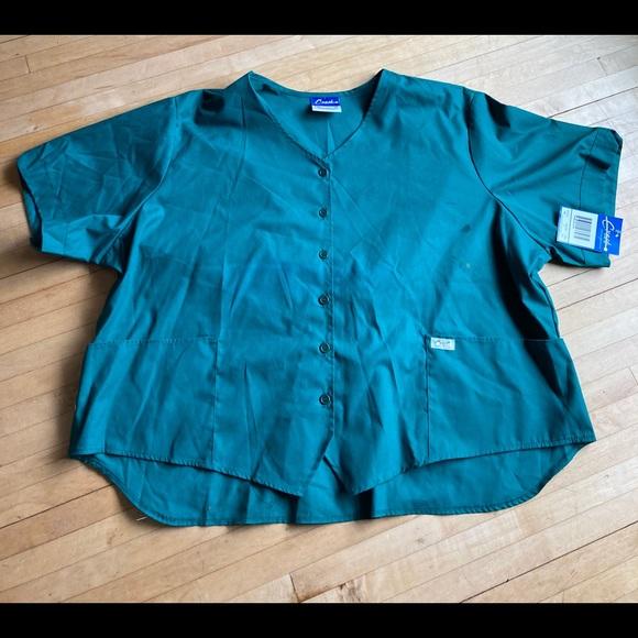 hunter green scrub top